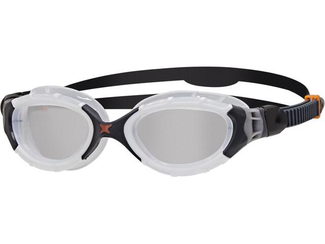 Zoggs Predator Flex Gogle L, white/black/clear